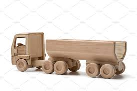 wooden truck toy wooden truck with trailer transportation photos creative market