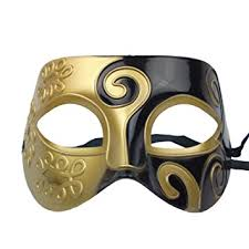 black masquerade masks nati men s masquerade mask color gold black toys