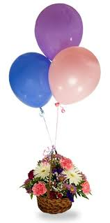 balloon bouquet delivery chicago best wishes basket and balloons chicago flower delivery