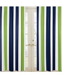 Navy Window Curtains Here S A Great Price On Sweet Jojo Designs Striped Navy Blue Lime