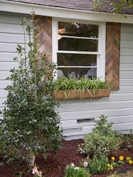 rustic exterior window shutters and old brown color for tile barn