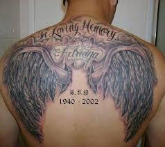memorial wings on back tattoos book 65 000 tattoos