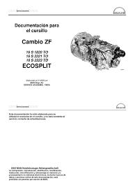manual de cajas zf 16 s