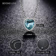 diamond cross heart necklace images Blue diamond cross necklace new amazon beyond love heart pendant jpg