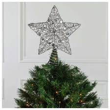 buy tesco glitter star light up christmas tree topper from our all