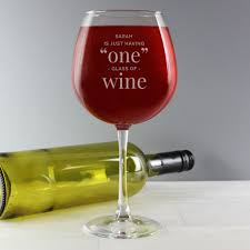 glass of wine personalised one glass bottle of wine glass