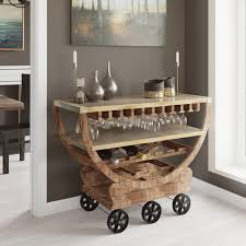 yosemite home decor lite coffee wine cart with storage yfur va6107