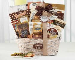 thank you gift basket many thanks by wine country gift baskets