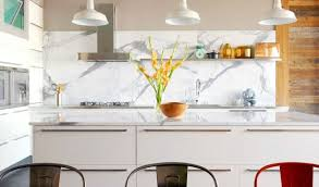 Kitchen Backsplash Ideas - Marble kitchen backsplash
