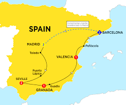 Valencia Spain Map by Spain Budget Tours 2017