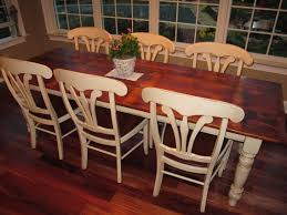 Barnwood Kitchen Cabinets White Pine Barn Wood Table With Antique White Legs And Glaze Our
