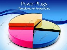 templates powerpoint crystalgraphics powerpoint template multi colored pie chart graph white and blue