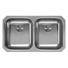 Elkay Undermount Stainless Steel  In Double Basin Kitchen Sink - Metal kitchen sink