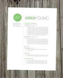 Unique Resume Template Cv Design Cover Letter Printable Resume Template Instant