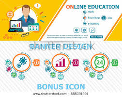 design online education online education design concepts abstract cover stock vector