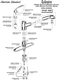 how to repair american standard kitchen faucet american standard kitchen faucet parts amazing com commercial