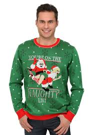 mens light up ugly christmas sweater naughty list ugly christmas sweater