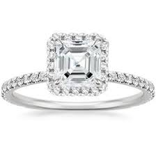 cut engagement ring asscher cut engagement rings brilliant earth