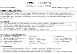 Resume Examples Retail Management by Resume Templates For Retail Comcast Cable Installer Sample Resume