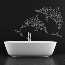 wall art ideas design dolphin small bathroom wall art black