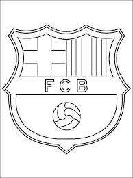 soccer coloring pages coloring page with logo of barcelona