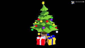cartoon style christmas tree 3d model from creativecrash com youtube