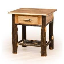 rustic hickory u0026 oak nightstand amish made usa free shipping