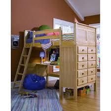 kenai twin study loft bed natural