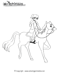horseback riding coloring page a free sports coloring printable