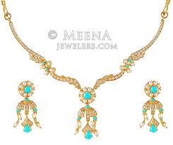 necklace set gold design images Gold designer necklace set stgd4280 22k gold indian designer jpg
