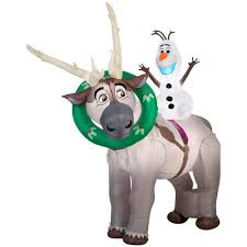 halloween airblown inflatable lawn decorations disney frozen olaf on sven christmas airblown inflatable 2016