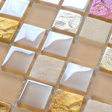 Free Shipping Tile Backsplash Kitchen Design Pink Crystal Glass - Stone glass mosaic tile backsplash