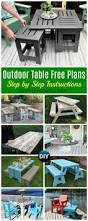 Sand Table Ideas Diy Outdoor Table Ideas U0026 Projects Free Plans Instructions