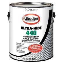 glidden professional 1 gal ultra hide 440 wb acrylic alkyd gloss