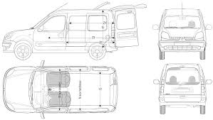 2006 renault kangoo van blueprints free outlines