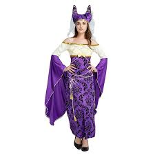 Cleopatra Halloween Costumes Adults Aliexpress Buy Elegant Purple Cleopatra Cosplay Costume