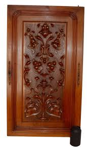 french antique neoclassical large carved salvaged wood door panel
