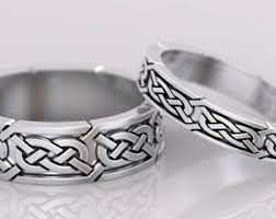 celtic mens wedding bands celtic wedding rings etsy