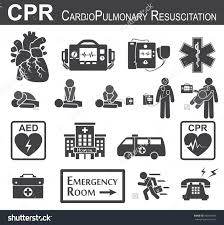 cpr cardiopulmonary resuscitation icon black u0026 white flat