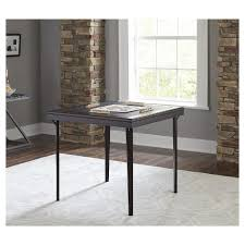 cosco square folding table folding wood table square with vinyl inset espresso cosco target
