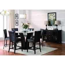 homelegance daisy 5 piece round counter height set in dark brown