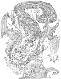 complex coloring pages dragons free images coloring complex