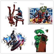 avengers home decor dhl ship the avengers 3d wall decals stickers avengers wall