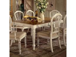 wilshire rectangle two tone double leaf dining table morris home