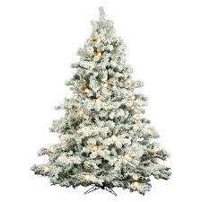 6 5 ft flocked alaskan pre lit tree walmart