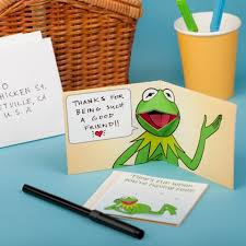 kermit the frog pop up card disney family