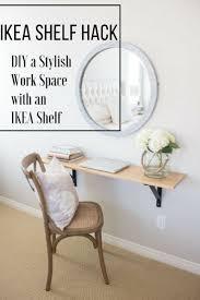 Ikea Shelf Hacks Ikea Shelf Hack How To Diy A Stylish Work Space With An Ikea Shelf