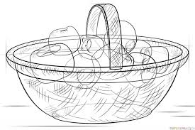 how to draw a basket with apples step by step drawing tutorials