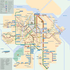 Mexico City Neighborhood Map by Map Of Amsterdam Tram Stations U0026 Lines