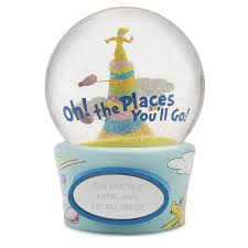 baptism snow globes seuss oh the places you ll go snow globe